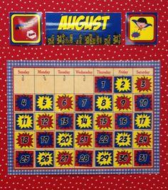 Super hero calendar.