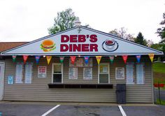Deb's Diner on Main Street in Strattanville, Pa. Giant ice cream cones here!