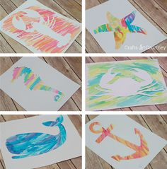 Watercolor art with stencils made with Silhouette