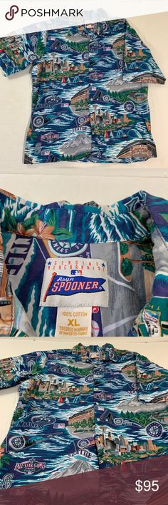 0dda00b5 Vintage Reyn Spooner MLB Seattle Mariners Shirt XL Message for measurements  and questions (AU)