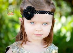 Baby You're a Star Headband  Black & Metallic Gold by TheRogueBaby