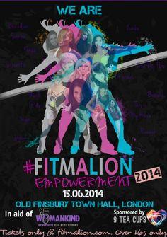 @9 Tea Cups @NaomiDiFabio 13 Masterclasses, 5 hours, 3 class choices, £40. 15.06.2014, LDN Book your ticket @fitmalion.com
