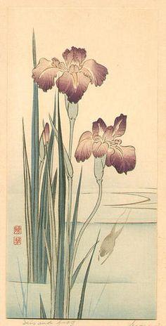 Gyosui Suzuki: Iris and Frog - Japanese Art Open Database