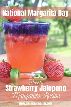 A simple, refreshing and delicicious margarita for National Margarita Day!