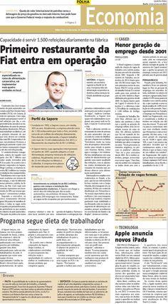 Título: Programa segue dieta do trabalhador. Veículo: Folha de Pernambuco. Data: 16/10/2014. Cliente: Sapore.
