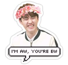 Exo Kpop stickers featuring millions of original designs created by independent artists. 4 sizes available. Exo Stickers, Printable Stickers, Cute Stickers, Kyungsoo, Kaisoo, Chanyeol, Exo Group Photo, Exo Cartoon, Kpop Logos