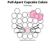 61 super Ideas for cupcakes decoration navidad pull apart Hello Kitty Birthday Cake, Hello Kitty Cupcakes, Hello Kitty Baby, Cat Cupcakes, Cat Birthday, Ladybug Cupcakes, Snowman Cupcakes, Cupcake Birthday, Cupcake Template