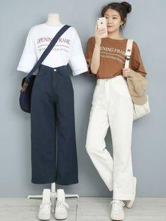 Korean Fashion School, Korean Girl Fashion, Korean Fashion Trends, Korean Street Fashion, Ulzzang Fashion, Korea Fashion, Cute Fashion, Asian Fashion, Kpop Fashion Outfits
