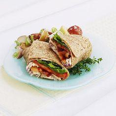 Healthy dinner ideas: Honey Mustard Chicken Pita with Cucumber Salad recipe