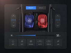 Condition designed by Matt_wang for UIX. App Ui Design, Mobile App Design, Interface Design, User Interface, Fluent Design, Car App, Tablet Ui, Car Console, Ui Patterns