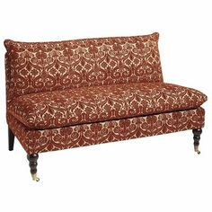 Gillian Loveseat - Cayenne - when there is no room for a super size sofa, a sweet little loveseat is the perfect alternative