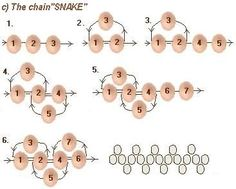 """The chain """"Snake""""  ~ Seed Bead Tutorials"""