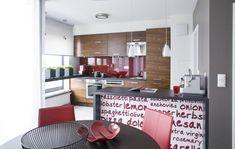 Uberlegen Küchenfront Mit Tapete Aufgepeppt.