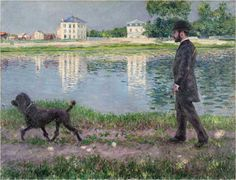 Gustave Caillebotte, Richard Gallo and his Dog, 1884, oil on canvas, Private Collection