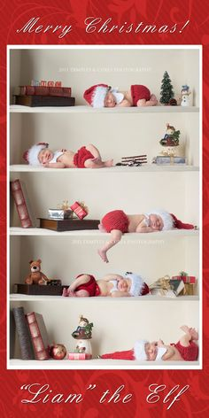Baby Elf on the Shelf....Jen I swear!! If I have anymore kids, this is soooo happening!!