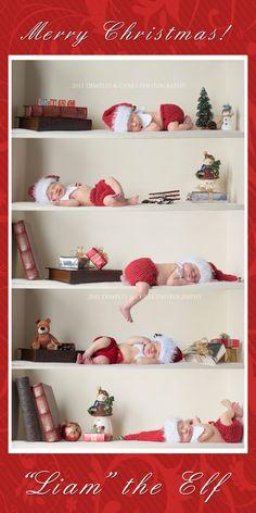 Baby Elf on the Shelf photo idea