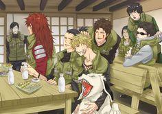 NARUTO SHIPPUDEN, Fan art, Sai, Choji, Shikamaru, Naruto, Kiba, Shino, Rock and Neji