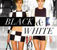 black and white fashion trend - Google Search