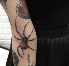Creepy spider tattoo on the right forearm by Alex Ciliegia Cry Baby Tattoo, Baby Tattoos, Body Art Tattoos, Spider Art, Spider Tattoo, Circle Tattoos, Tattoo Magazines, Tattoos Gallery, Animal Tattoos