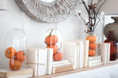 Pumpkins in glass be