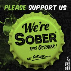 The End of the World is Nigh!!!...Or nearly, as we only have one day to go until the Love Water team Go Sober for October!  https://www.gosober.org.uk/team/lovewater  http://www.lovewater.com