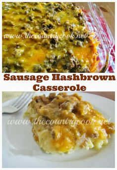 Easy Sausage Hash Brown Breakfast Casserole is the ultimate breakfast casserole. Eggs, cheese, crumbled, cooked sausage and hash browns! Breakfast Items, Breakfast Dishes, Breakfast Recipes, Frozen Breakfast, Eat Breakfast, Sausage Hashbrown Breakfast Casserole, How To Cook Sausage, Country Cooking, Brunch Recipes