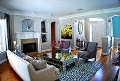 Eclectic Living Room Design Photo by A.Clore Interiors Album - A.Clore Interiors, Preserve - Living
