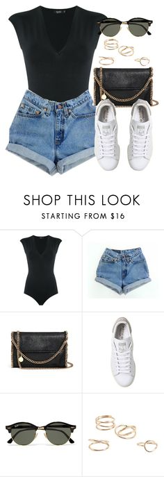 """Sin título #12288"" by vany-alvarado ❤ liked on Polyvore featuring Gig, Levi's, STELLA McCARTNEY, adidas, Ray-Ban and MANGO"