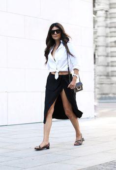 Fashion Cognoscente: Trend Alert: White Button Down Shirt waysify