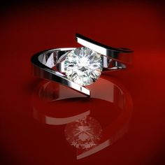 Tension set diamond http://www.JamesAllen.com