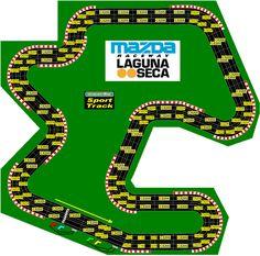 Image result for laguna seca slot car track