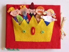 Meska - A didergő király- ujjbáb készlet és mini bábszínház Jam81 kézművestől