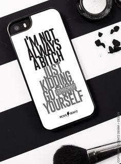Im Not Always A Bitch Just Kidding Go F*ck Yourself Cell Phone Case #iphone #iphone5 #iphone6 #iphone6s #apple #applephone #applewatch #appleiphone #sassy #sassyphonecase #maturephonecase