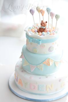 Baby Shower Cake So many cute cakes! Pretty Cakes, Cute Cakes, Beautiful Cakes, Amazing Cakes, Baby Cakes, Cupcake Cakes, Pink Cakes, Fondant Cakes, Torta Baby Shower