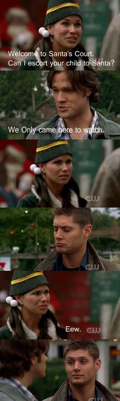 A Very Supernatural Christmas =]. Best scene ever. I laugh every time!