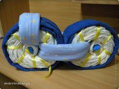 DIY Hippo on the Bike Diaper Gift Step 11