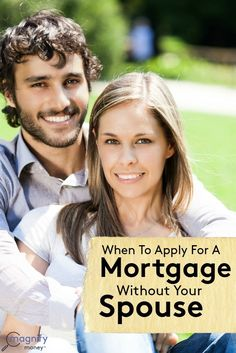 Even though it may seem unconventional at first, buying a house without your spouse actually makes quite a bit of sense in some situations. As with any big decision, be sure that you make the decision about whether to buy a home together or separately by talking openly so that you and your spouse are on the same page about your homeownership dream and what it will take to get there.  http://www.magnifymoney.com/blog/life-events/apply-mortgage-without-spouse best money saving tips #SaveMoney…