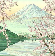 Kyoto, Mont Fuji, Old School, Mountains, Nature, Travel, Prints, Impressionism, Naturaleza