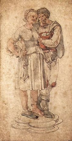 Amorous Peasants by DURER, Albrecht #art