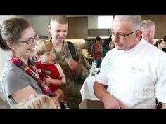 Chef Irvine and Sodexo Cook for Troops at USO Warrior and Family Center at Bethesda