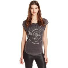 Chaser Women's Luna Graphic Tee Shirt ($62) ❤ liked on Polyvore featuring tops, t-shirts, t shirts, chaser shirts, graphic shirts, graphic print t shirts and black t shirt