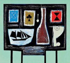 Scottish Artist Simon LAURIE  RGI-Black House Table