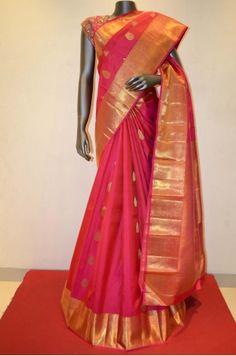Bridal Pink Hand Woven Kanchipuram Silk Saree Product Code: AB200208 Online Shopping; http://www.janardhanasilk.com/Bridal-Pink-Hand-Woven-Kanjeevaram-Silk-Saree?search=AB200208&description=true