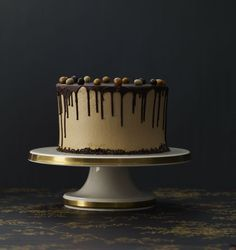 Classic Chocolate Cake with Coffee Buttercream - I followed the recipe and it came out just like the picture!  Who knew! chocol ganach, coffee cakes, bake explor, chocolates, food, dark chocol, recip, chocol coffe, coffe cake