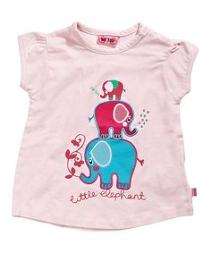 Take a look at this Pink Tower of Elephants Tee - Infant & Toddler by Me Too on #zulily today!
