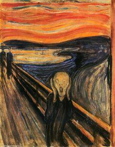 O Grito, Petróleo, Pastel, têmpera por Edvard Munch (1863-1944, Norway)