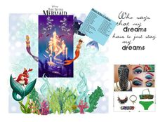 """The Little Mermaid"" by dragonfaery ❤ liked on Polyvore featuring Disney, Sebastian Professional, Disney Couture, Stella Cove and 30daydisneychallenge"