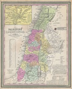 853 Mitchell Map of Palestine, Israel and the Holy Land - Geographicus -