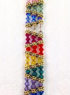 Kaleidoscope Bracelet - 1 Stop Bead Shop Wire Wrapped Jewelry, Wire Jewelry, Beaded Jewelry, Beaded Bracelets, Bracelet Patterns, Beading Patterns, Bead Crafts, Jewelry Crafts, Handmade Bracelets