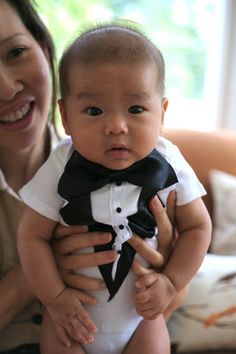ALREADY MADE 18 M Boys Tuxedo/Vest Fisher Price Onesie by LilTuxes, $12.00